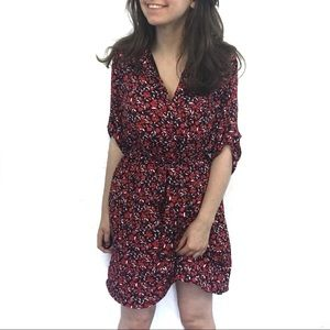 NY&C Blue And Red Floral Dress